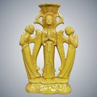 Cowan Pottery Byzantine Candlestick, Yellow, Circa 1927