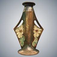 "Roseville Pottery Dahlrose Bud Vase #78-8"", c. 1928"