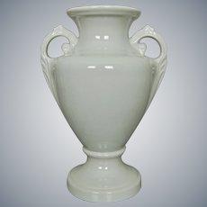 "Trenton Potteries Company 12"" ""Acantha"" Urn, White, Ca. 1938"