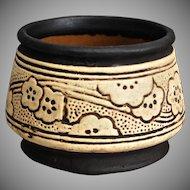 Weller Pottery Claywood Squat Vessel, c 1910