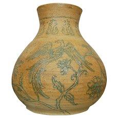 "Nadine Karnow Stoneware ""Firebird"" Vase"