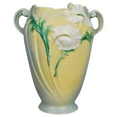 """Roseville Pottery Poppy Vase #875-10"""", Grey, Circa 1938"""