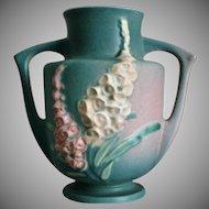 "Roseville Pottery Foxglove Vase #46-7"", Green, Ca. 1942"