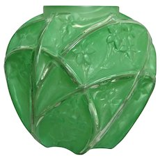 Consolidated Martele' 700 Line Vase, Green, c. 1930