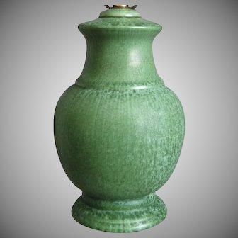 "Cowan Pottery Lamp #M-2, ""Antique Green"" Glaze, Circa 1929"