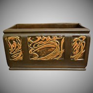 "Roseville Pottery Rosecraft Panel Window Box #373-10"", Brown, Ca. 1926"