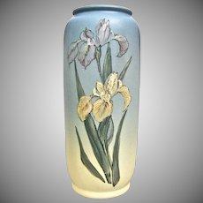 "Weller Pottery Hudson Vase, D. England, ""Irises"", c. 1923"
