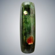 """Limoges Hand-painted 16"""" Vase w/Campfire Scene, Circa 1920"""