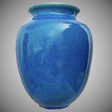 "Cowan Pottery 9"" Vase #585, Egyptian Blue, Circa 1925"