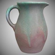 Muncie Pottery Pitcher #428, Green/Lilac, Circa 1930