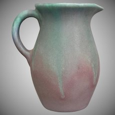 Muncie Pottery Pitcher #428, Green/Lilac, Circa 1930