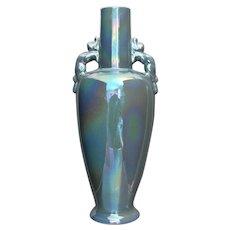 """Cowan Pottery 11"""" Vase #606, Larkspur Lustre, Ca. 1923"""