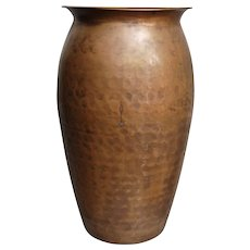 "Hammered Copper 10"" Vase"