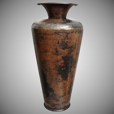 "Hammered Copper Plate 12"" Vase"