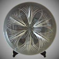 Verlys Tassel Bowl, Crystal Etched, Ca. 1943