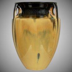 Fulper Pottery Vase #530, Yellow Flambe', Circa 1925