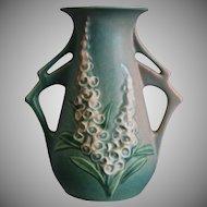 "Roseville Pottery Foxglove Vase #44-6"", Green, Ca. 1942"