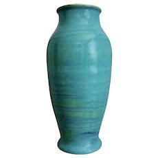 """Cowan Pottery 12"""" Vase #V-847, Mother o' Pearl, Circa 1929"""