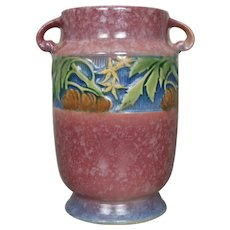 """Roseville Pottery Baneda Vase #592-7"""", Pink"""