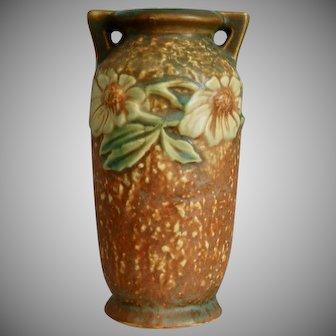 "Roseville Pottery Dahlrose Vase #363-6"", Circa 1930"