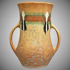 "Roseville Pottery Montacello Vase #556-5"", Tan, Ca. 1931"