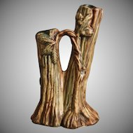 Weller Pottery Warwick/Woodcraft Double Bud Vase, Ca. 1929