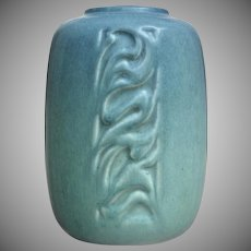 Rookwood Pottery Production Vase #1908, Blue, 1921