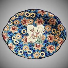 Longwy Enameled Floral Bowl, 1942 - 1946
