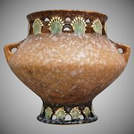 "Roseville Pottery Ferella Vase #505-6"", Tan, Ca. 1930"