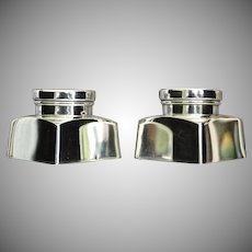 "Georg Jensen ""Washington"" Sterling Salt & Pepper Shakers, Ca. 1950"