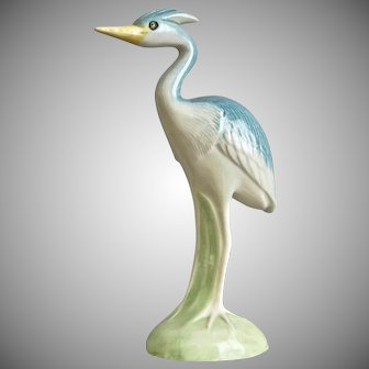 "Metlox Pottery Polychrome 6"" Wading Bird Figurine, Ca. 1960"