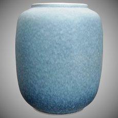 """Roseville Pottery Rozane Pattern Vase #4-8"""", Blue, Ca. 1941"""