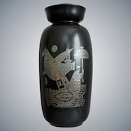 """Hyalyn Porcelain """"Midas"""" Vase, G. Briard, Ca. 1961"""