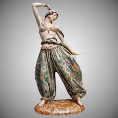 Rare Vincenzo Bertolotti Figurine, Snake Charmer, Ca. 1940