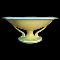 """Roseville Pottery Orian Bowl #272-10"""", Yellow, Ca. 1935 - Red Tag Sale Item"""