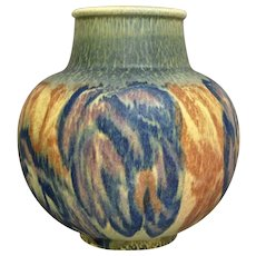 Rookwood Pottery Decorated Mat Vase, D. Workum, 1928