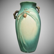 "Roseville Pottery PineCone Vase #806-12"", Green, Ca. 1936"