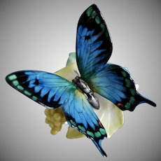 Hutschenreuther Porcelain Butterfly Figurine, Ca. 1968