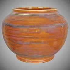 Cowan Pottery Vase #V-38, Russet Brown, Circa 1930