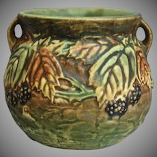"Roseville Pottery Blackberry Vase #567-4"", Ca. 1932"