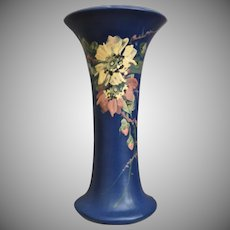 "Weller Pottery Hudson Blue & Decorated 10"" Vase, Ca. 1923"