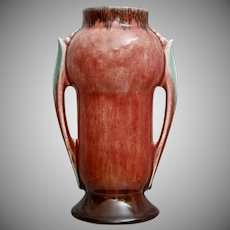 "Roseville Pottery Orian Vase #733-6"", Red, 1935"
