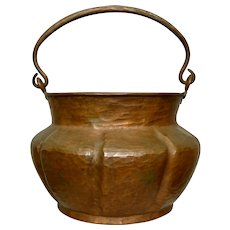 Hammered Copper Pail w/Bail Handle