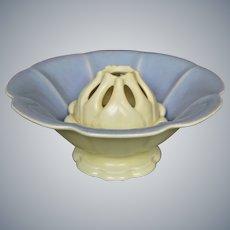 Cowan Pottery Bowl & Frog #733-B/775, Orchid Glaze, Circa 1928