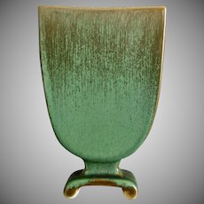 "Cowan Pottery Pillow Vase #797, ""Antique Green"" Glaze, Circa 1928"