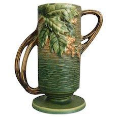 "Roseville Pottery Bushberry Vase #32-7"", Green, Ca. 1941"