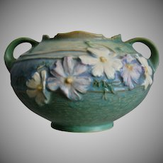 "Roseville Pottery Cosmos Rose Bowl #375-4"", Green, Ca. 1939"