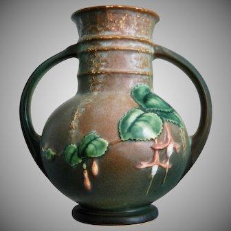 "Roseville Pottery Fuchsia Vase #891-6"", Green, Ca. 1938"