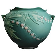 "Roseville Pottery Bleeding Heart Jardinière #651-7"", Green"