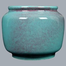 "Cowan Pottery Squat Vase #610, ""Cashmere"" Glaze, Circa 1930"